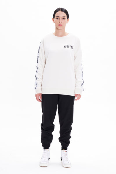 Felpa girocollo off white banda - Independent_wear