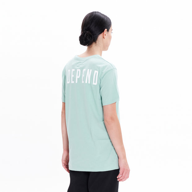 "T-shirt soft green ""NDEPEND"" - Independent_wear"