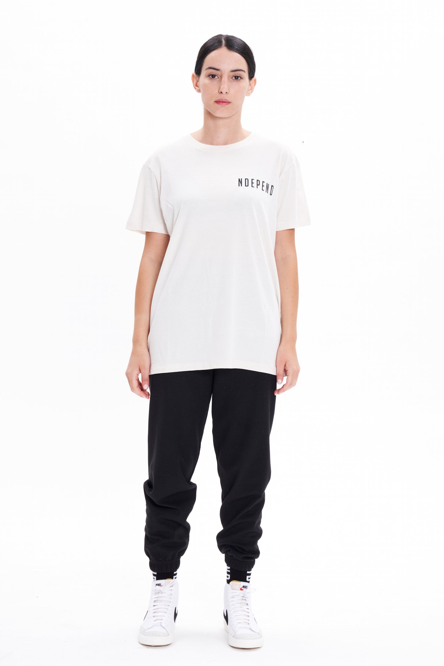 "T-shirt off white ""NDEPEND"""