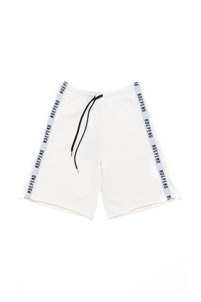 Pantalone tuta corto off white banda - Independent_wear