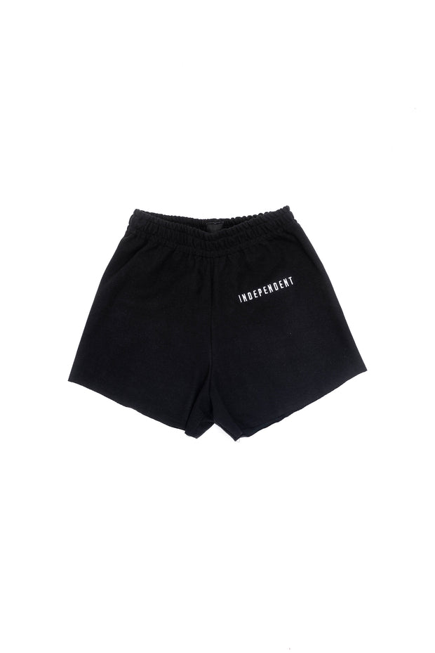 Short donna nero ricamo - Independent_wear