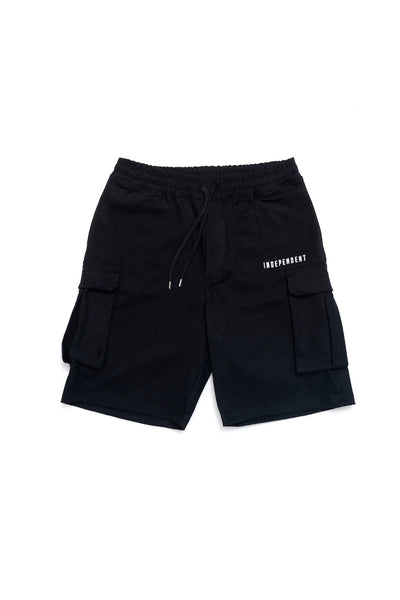 Pantalone cargo corto nero - Independent_wear