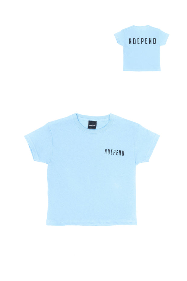 "T-shirt azzurra ""NDEPEND"" - Independent_wear"