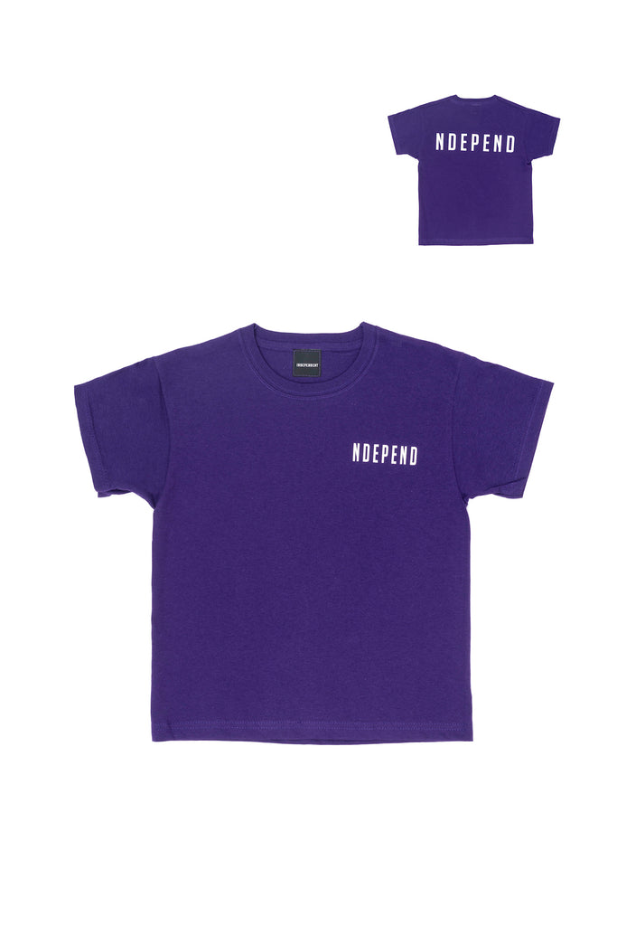 "T-shirt viola ""NDEPEND"""
