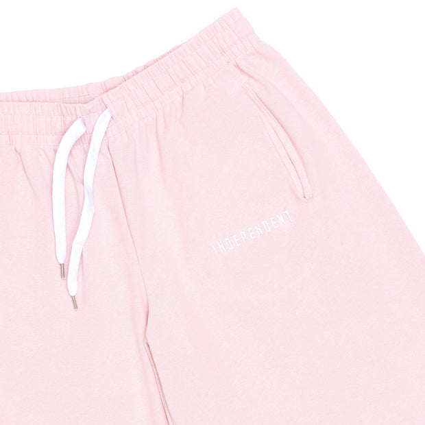 Pantalone tuta corto soft rose ricamo - Independent_wear