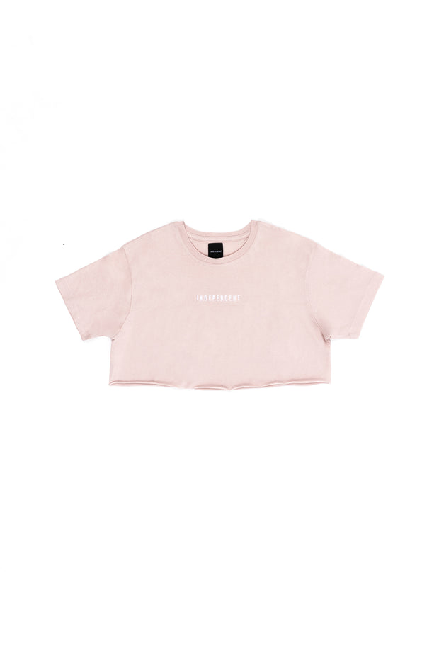 T-shirt corta soft rose ricamo - Independent_wear