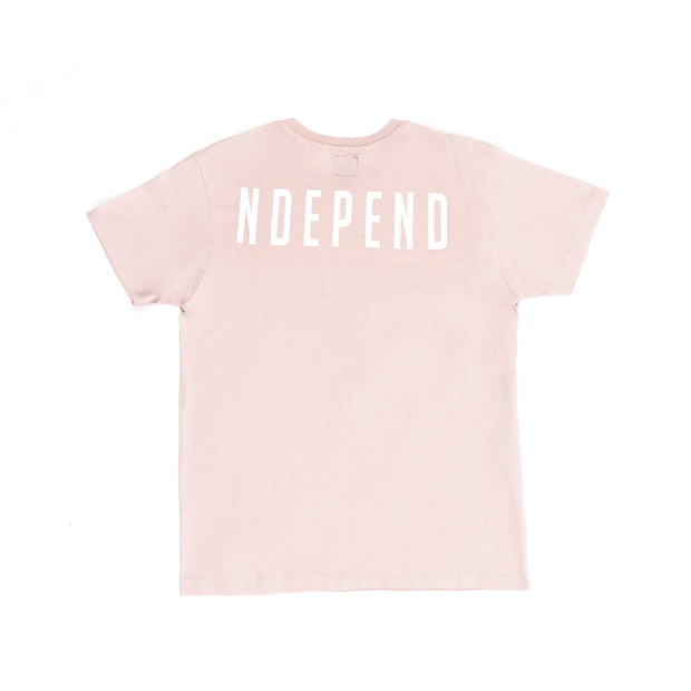 "T-shirt soft rose ""NDEPEND"" - Independent_wear"