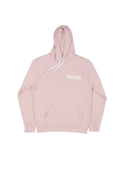 "Felpa cappuccio soft rose ""NDEPEND"" - Independent_wear"