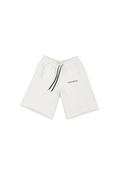 Pantalone tuta corto off white ricamo - Independent_wear