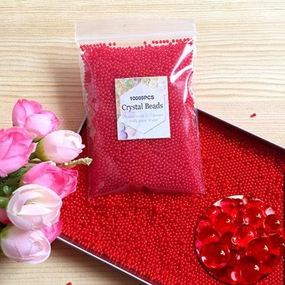 Red Hydrogel Polymer Water Beads Crystal Soil 10000pcs