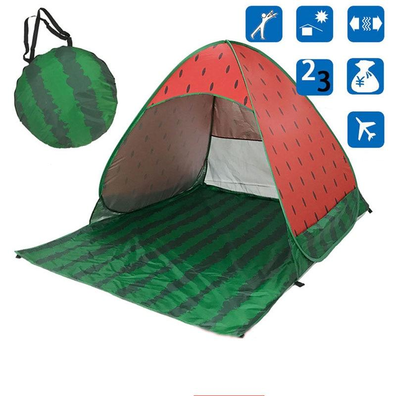 Watermelon Pop-Up Beach Tent for Family with UV-Protection Shade Automatic Open