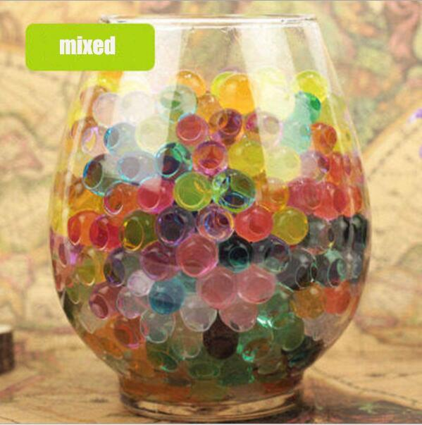 PEARL-SHAPED HYDROGEL POLYMER WATER BEADS - 100pc