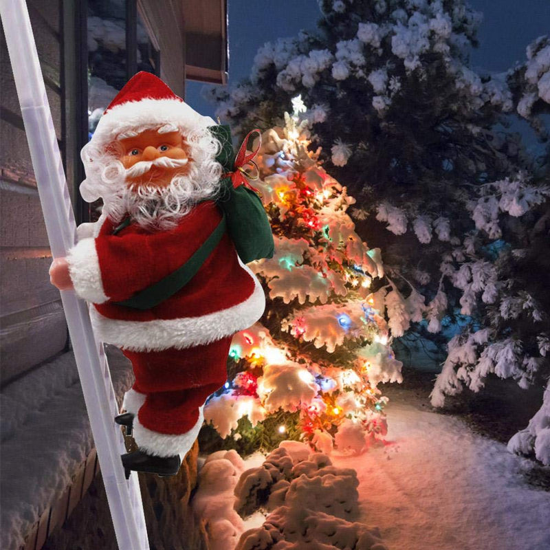 Electric Singing Climbing Santa Claus for Christmas - easeable.com