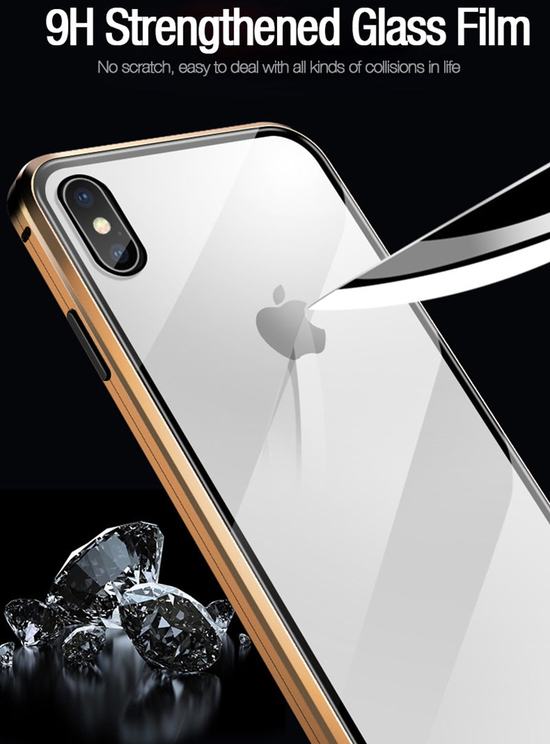 Anti-Peep Magnetic Glass Screen Protector iPhone Case - easeable.com