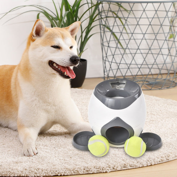 Interactive Automatic Dog Ball Launcher Treat Reward Toy - easeable.com