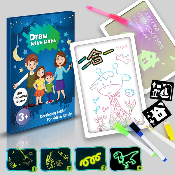 Light Drawing Pad | LED Magic Drawing Board for Kids - easeable.com