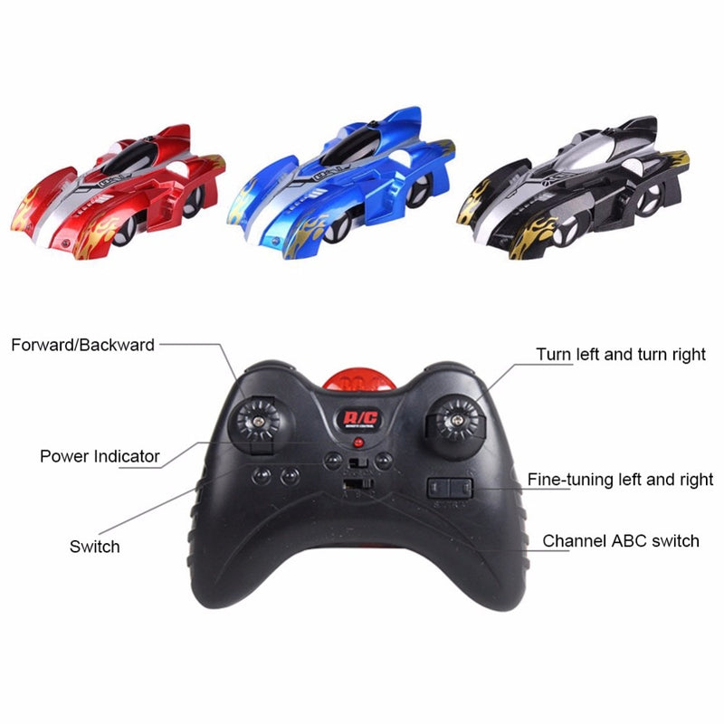 Wall-Climbing Remote Control Car, Anti Gravity RC Car - easeable.com