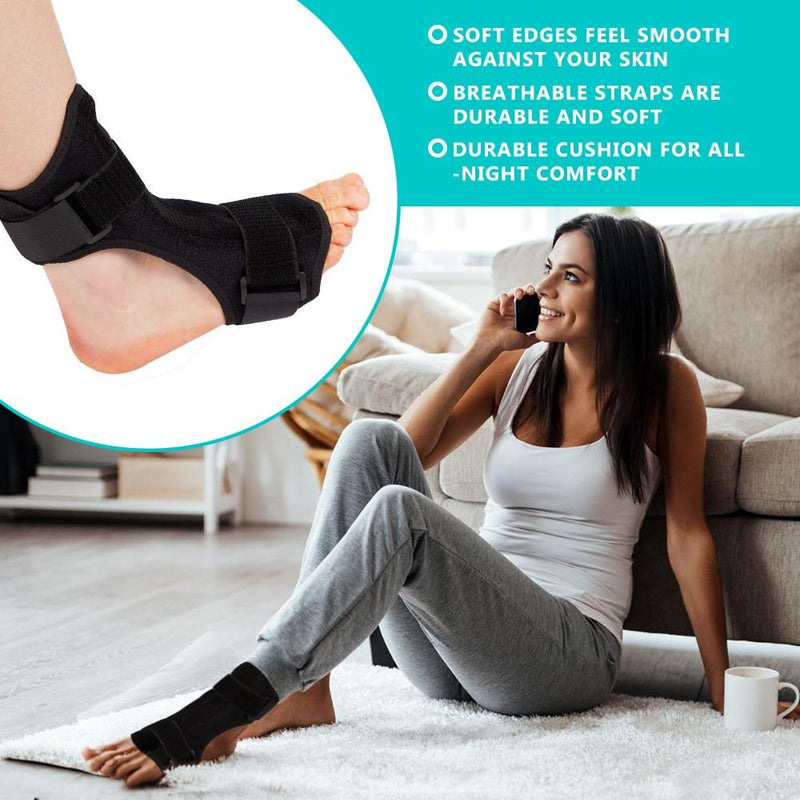 Adjustable Plantar Fasciitis Brace Splint Heel Spur Foot Drop Brace - easeable.com