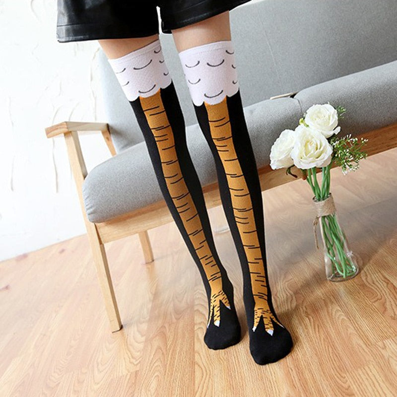 Funny Chicken Knee Socks Unisex - easeable.com