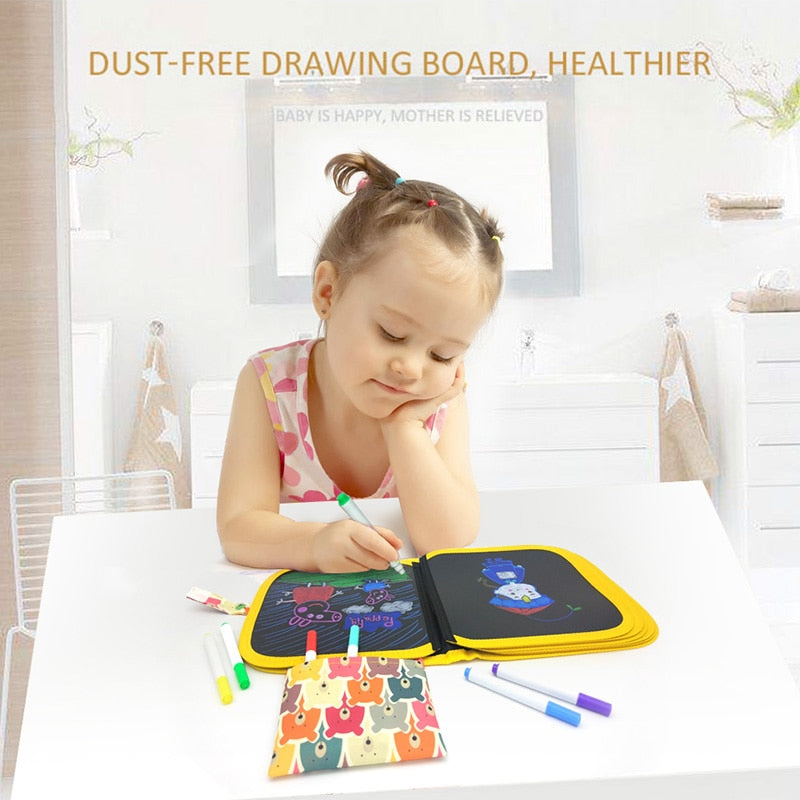 Portable Erasable Drawing Book with Liquid Chalk Pen - easeable.com