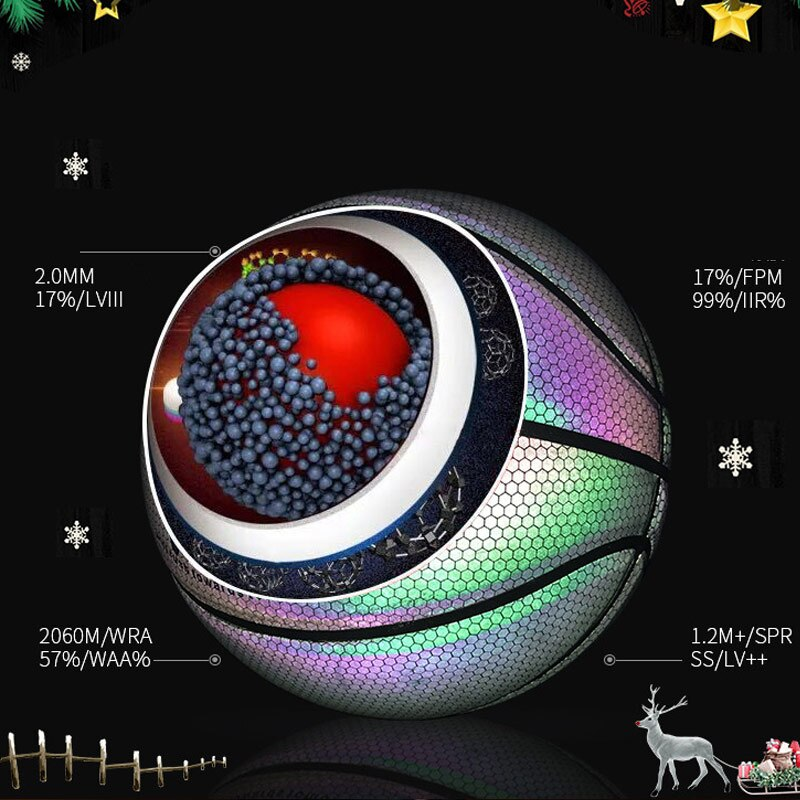 Luminous Holographic Basketball - Light Up Reflective Ball
