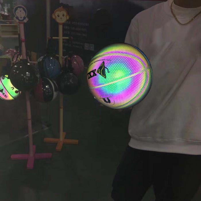 Luminous Holographic Basketball Light Up Reflective Ball - easeable.com
