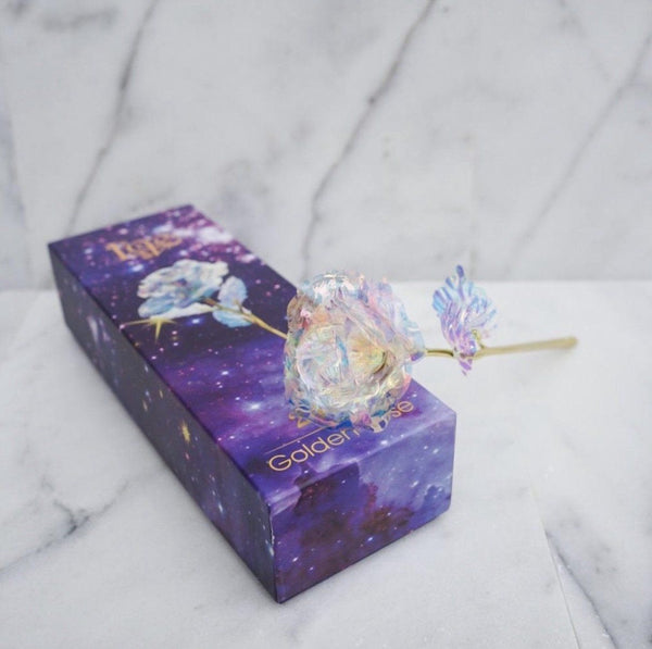 24k Galaxy Rose Anniversary Wedding Engagement Gift - easeable.com