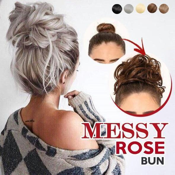 Messy Instant Rose Bun (Hair Bun Scrunchie) - easeable.com