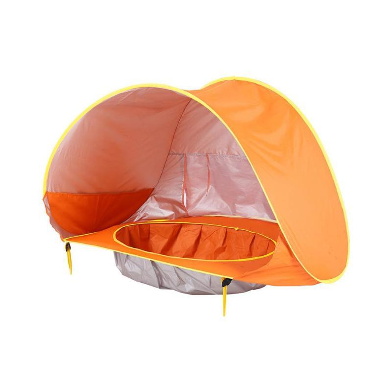 Orange Baby Beach Tent with Pool