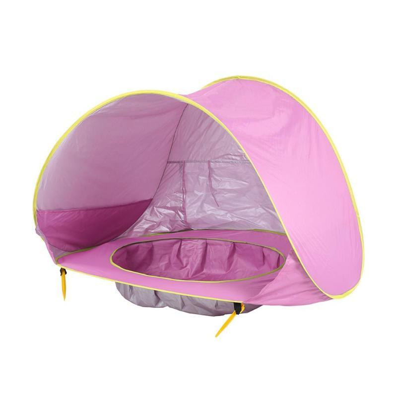 Pink Baby Beach Tent with Pool