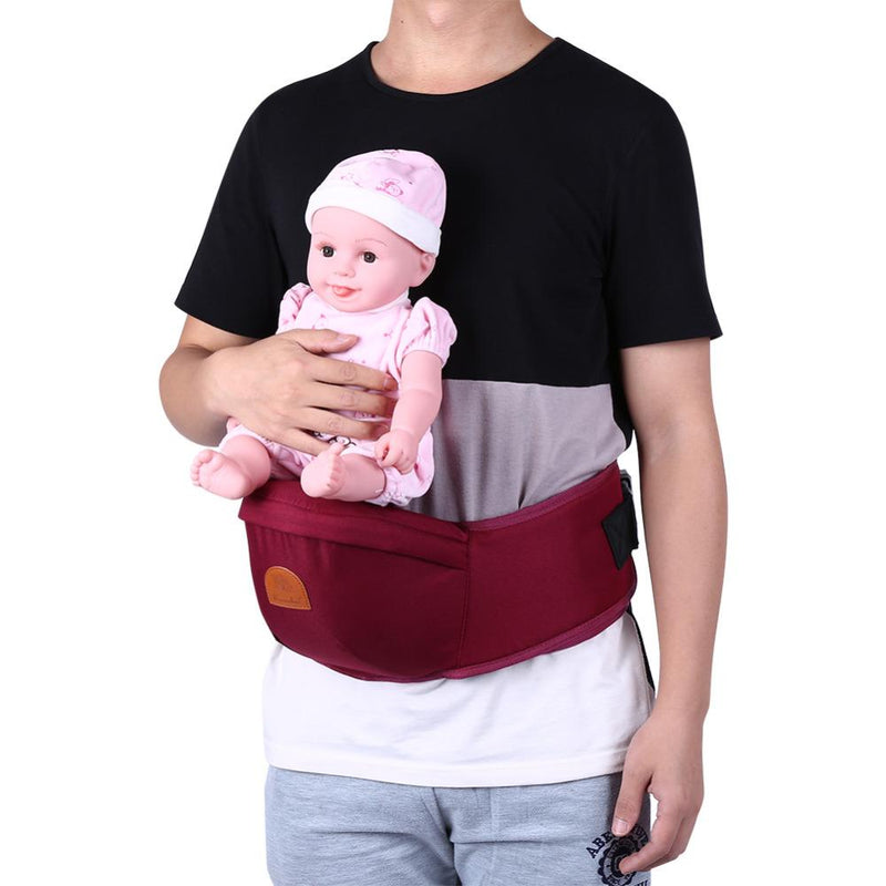 Adjustable Baby Carrier Hip Seat Burgundy