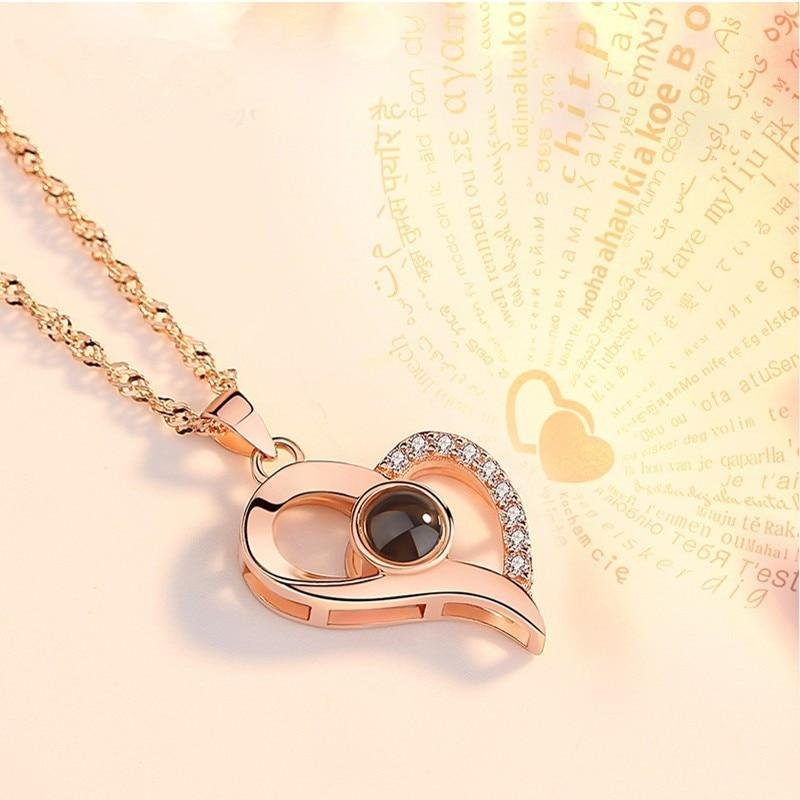 Projection Necklace | I Love You in 100 Languages - easeable.com