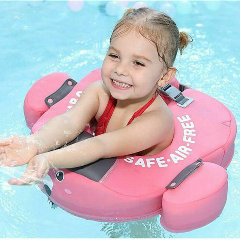 Pink Safety Baby Neck Float Swim Trainer in Pool