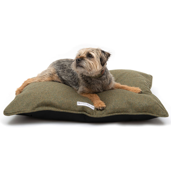 dogandhaf luxury green british tweed dog bed for small medium large dog