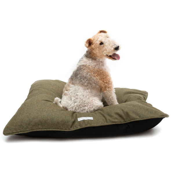 dogandhaf stylish green british tweed dog pillow for small medium large dog