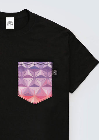 Spaceship Earth Sunset Edition Pocket T-shirt