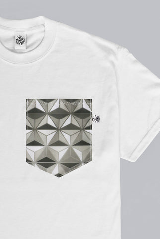 Spaceship Earth Sunrise Edition Pocket T-shirt