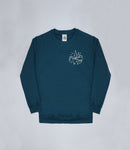 Petrol Blue Magical Day Apparel Sweater Front and Back