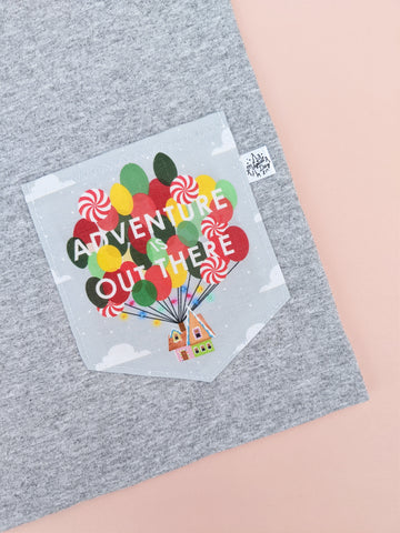 Adventure Is Out There Pocket T-shirt - Holiday Edition
