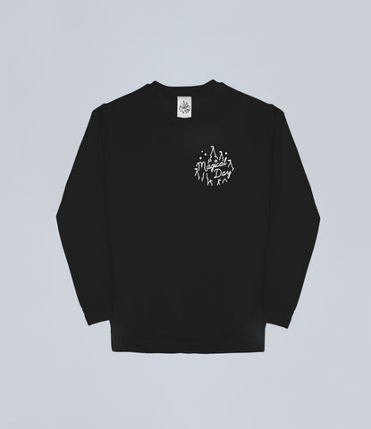 Black Magical Day Apparel Sweater Front and Back