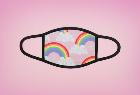 Rainbows and Clouds Face Mask