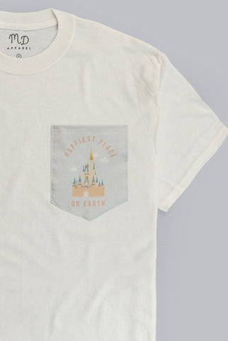 Happiest Place On Earth Pocket T-shirt