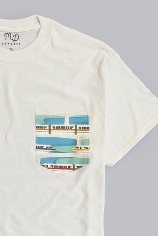 Monorail Transportation Pocket T-shirt