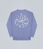 Lilac Magical Day Apparel Sweater Front and Back