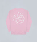 Pastel Pink Magical Day Apparel Sweater Front and Back