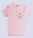 Rainbows and Clouds Pocket T-shirt