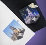 Wizarding Castle Night Time Pocket T-shirt