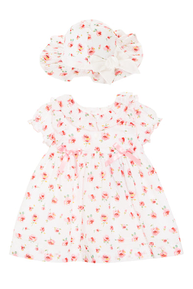 Liberty Floral Baby Doll Dress and Hat Set