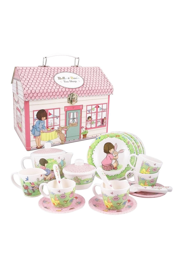 Belle and Boo Tea Set with Plush Toys