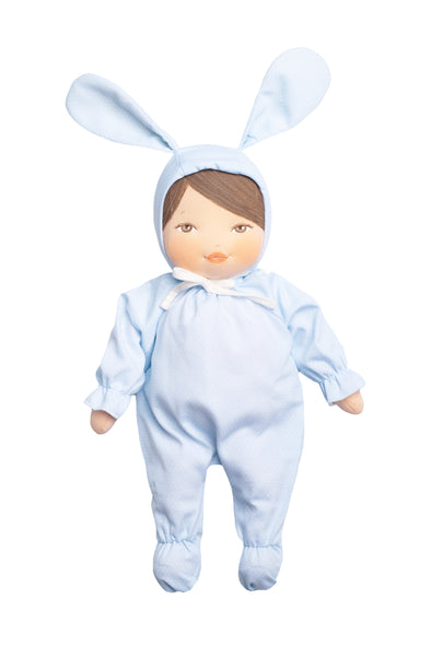 Morenita Bunny with Blue Dot Outfit